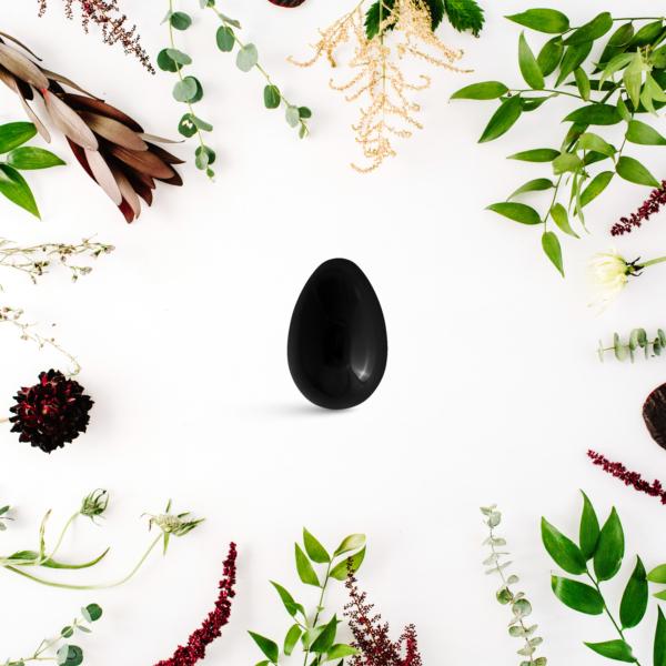 Yoni vajíčka - sada 3 ks / obsidián