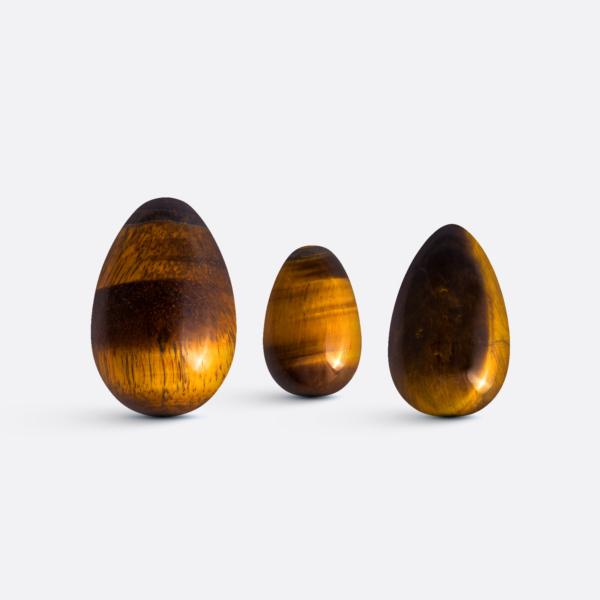 Yoni vajíčka - sada 3 ks / tygří oko