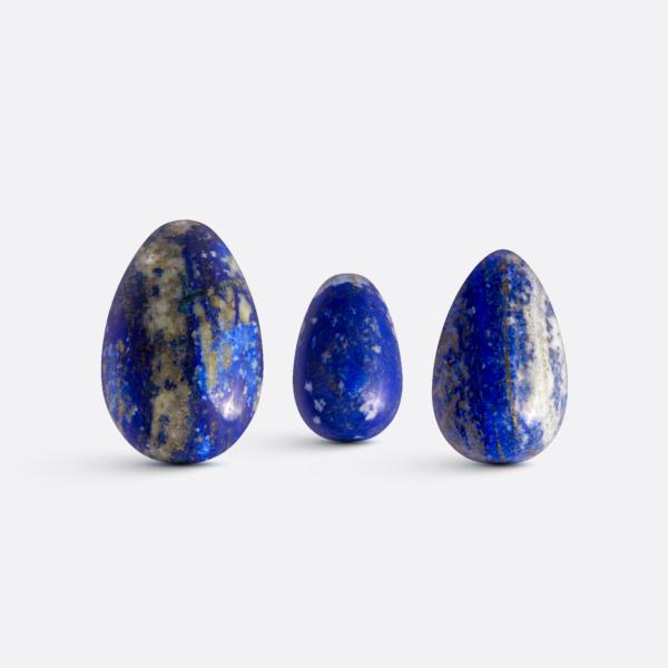 Yoni vajíčka - sada 3 ks / lapis lazuli