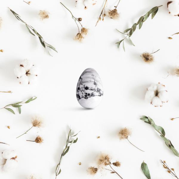 Yoni vajíčka - sada 3 ks / howlit (magnezit)