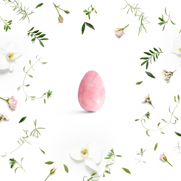 Yoni vajíčka - sada 3 ks / růženín / 2. jakost