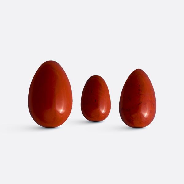 Yoni vajíčka - sada 3 ks / jaspis / 2. jakost