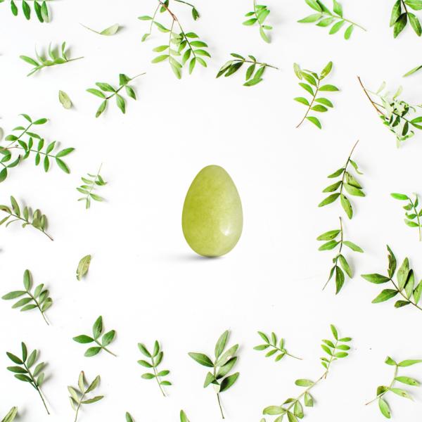 Yoni vajíčka - sada 3 ks / olivový jadeit
